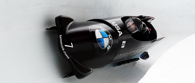The bobsled that BMW developed for Team USA. C/O BMW USA